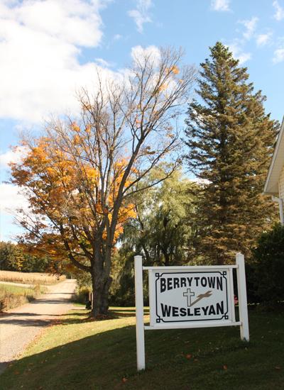 Berrytown Wesleyan Church sign